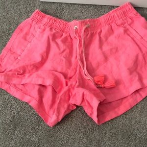 Lilly Pulitzer pink shorts with front pockets